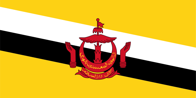 Flag Of Brunei Darussalam Clipart png free, Flag Of Brunei Darussalam transparent png
