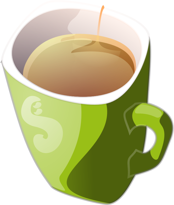 Green Mug Of Tea Clipart png free, Green Mug Of Tea transparent png