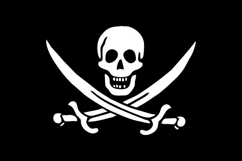 Pirate Flag - Jack Rackham Clipart png free, Pirate Flag - Jack Rackham transparent png
