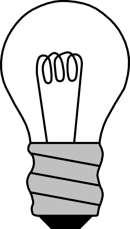 Light Bulb Off Clipart png free, Light Bulb Off transparent png