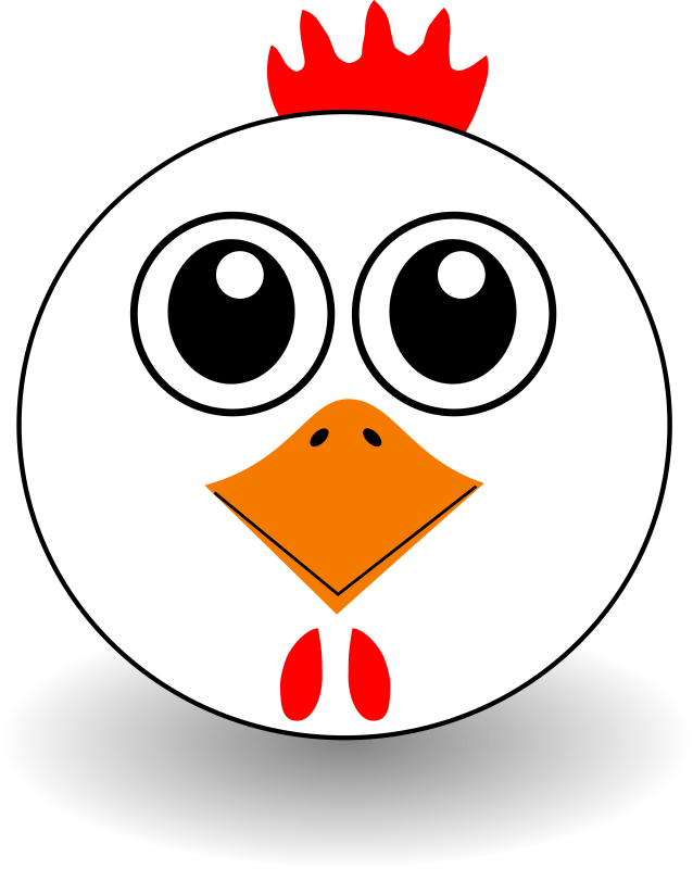 Funny Chicken Face Cartoon Clipart png free, Funny Chicken Face Cartoon transparent png