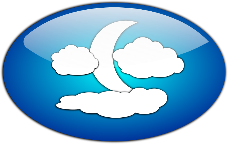 Clouds And The Moon Clipart png free, Clouds And The Moon transparent png