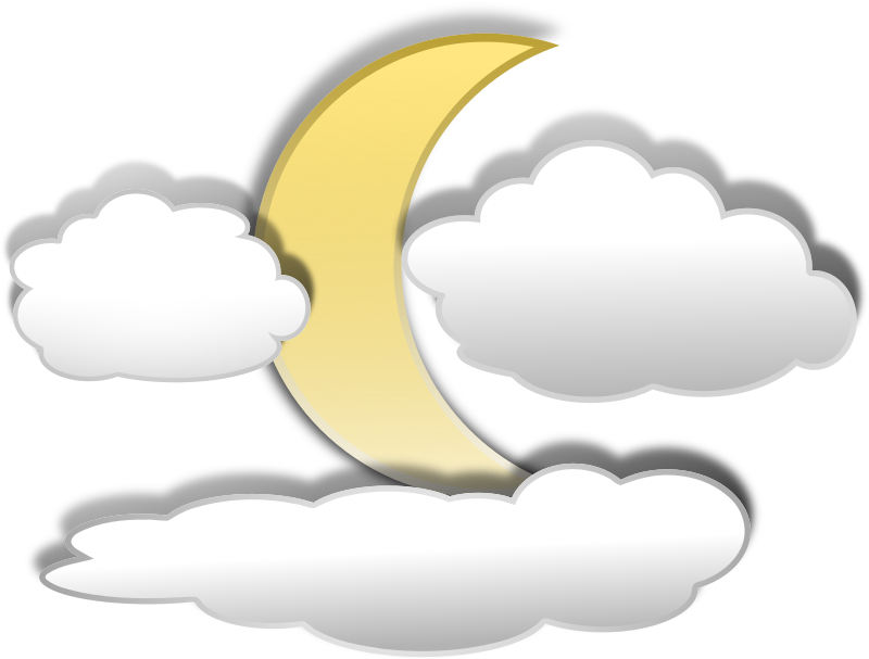 Clouds And The Moon 3 Clipart png free, Clouds And The Moon 3 transparent png