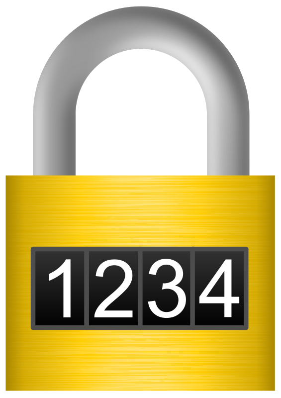Combination Lock Clipart png free, Combination Lock transparent png