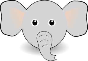 Funny Elephant Face Cartoon Clipart png free, Funny Elephant Face Cartoon transparent png