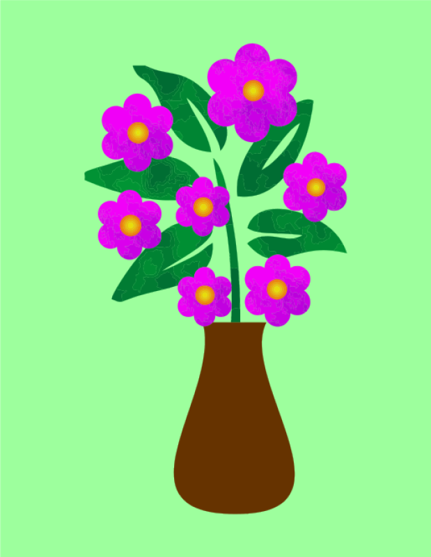 Flower In A Vase Clipart png free, Flower In A Vase transparent png