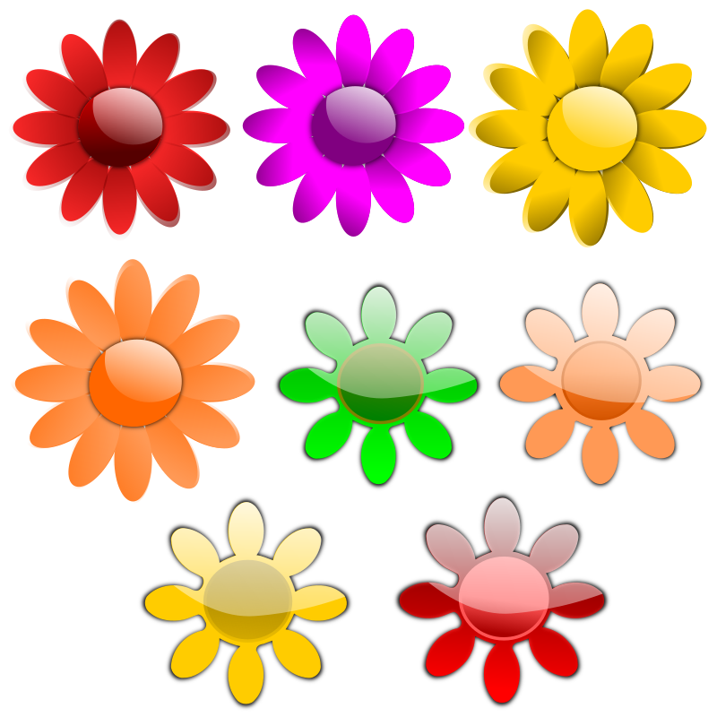 Vector Flowers Clipart png free, Vector Flowers transparent png