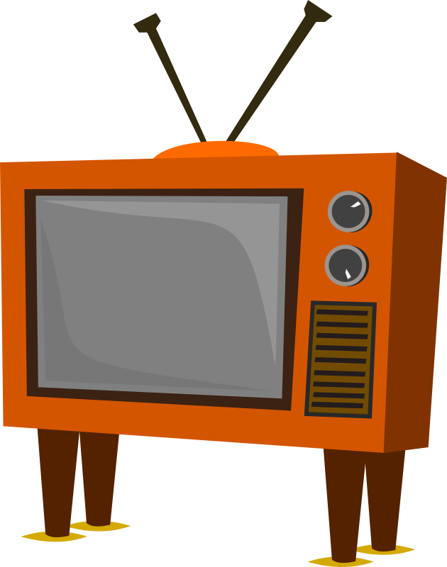 Funky Old Tv Clipart png free, Funky Old Tv transparent png