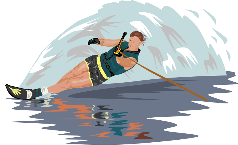 Water Skier Clipart png free, Water Skier transparent png