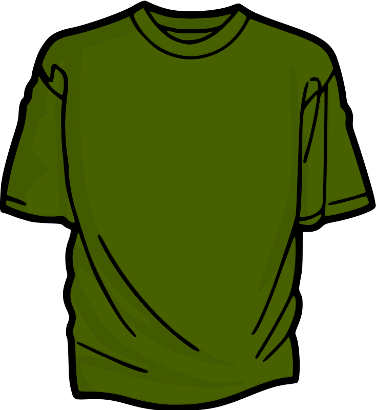 Green 2 T-Shirt Clipart png free, Green 2 T-Shirt transparent png