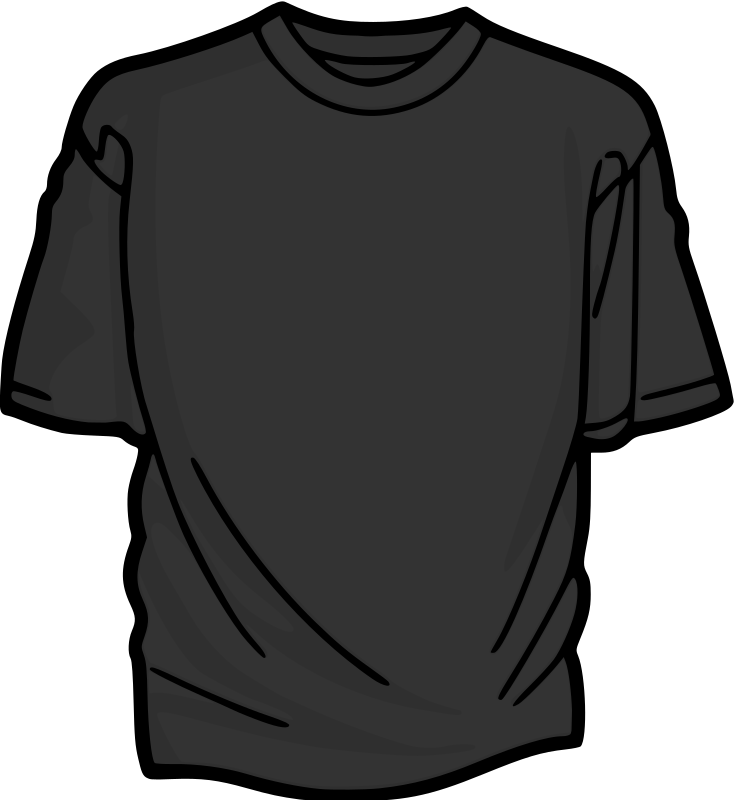 Grey T-Shirt Clipart png free, Grey T-Shirt transparent png
