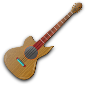 Wooden Guitar Clipart png free, Wooden Guitar transparent png