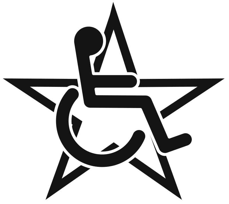 Wheelchair In A Star Clipart png free, Wheelchair In A Star transparent png