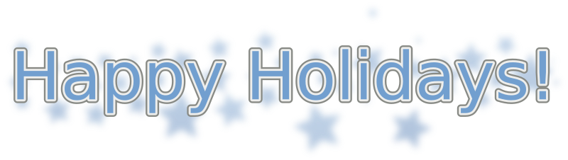 Happy Holidays (With Snowflakes) Clipart png free, Happy Holidays (With Snowflakes) transparent png