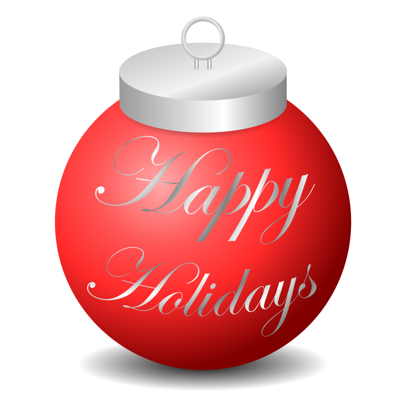 Happy Holidays Ornament Clipart png free, Happy Holidays Ornament transparent png