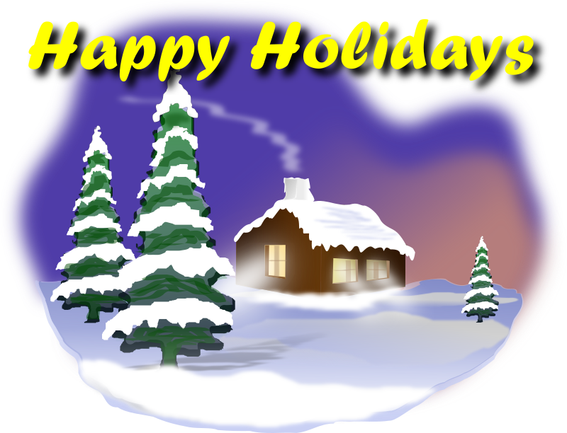 Happy Holidays Clipart png free, Happy Holidays transparent png