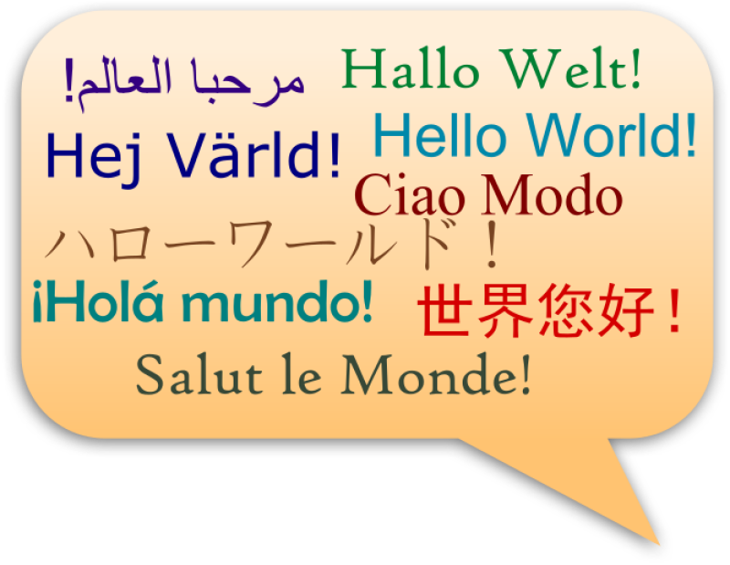 Hello World In Several Language Clipart png free, Hello World In Several Language transparent png