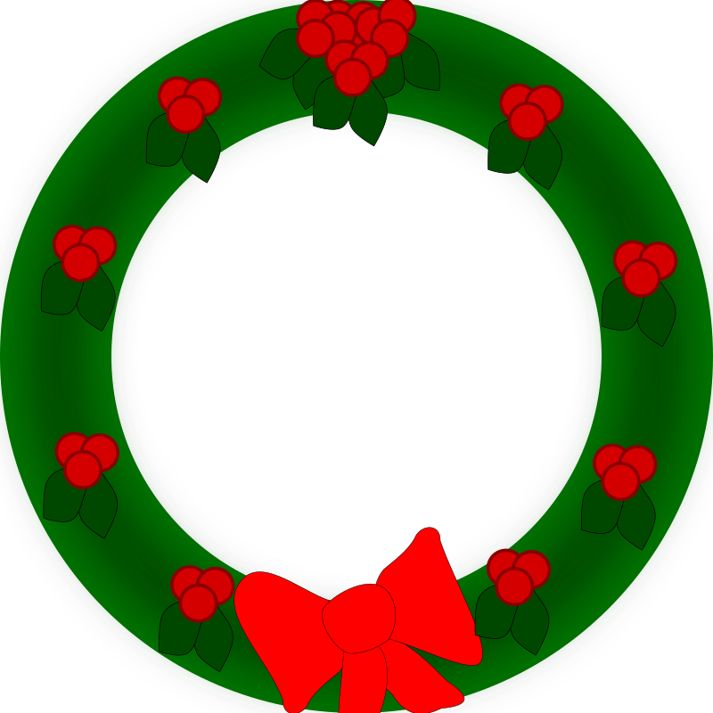 Holiday Wreath Clipart png free, Holiday Wreath transparent png