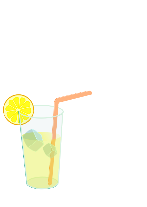 Lemonade Glass Remix Clipart png free, Lemonade Glass Remix transparent png
