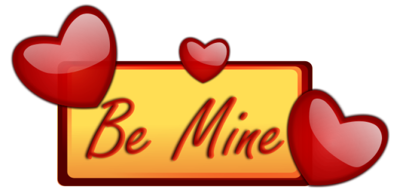 Love  Be Mine Clipart png free, Love  Be Mine transparent png