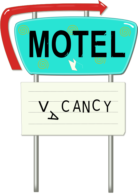 Vintage Motel Sign Clipart png free, Vintage Motel Sign transparent png