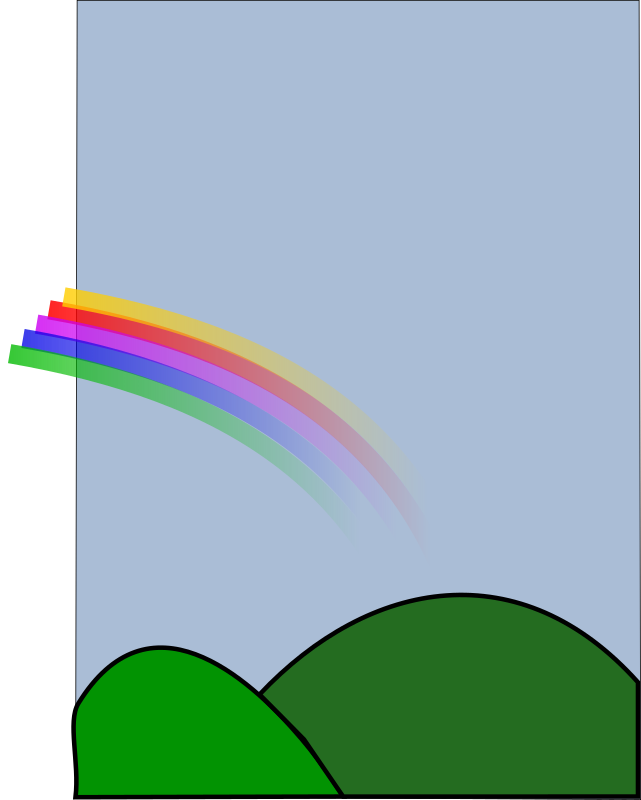 Rainbow1 Clipart png free, Rainbow1 transparent png