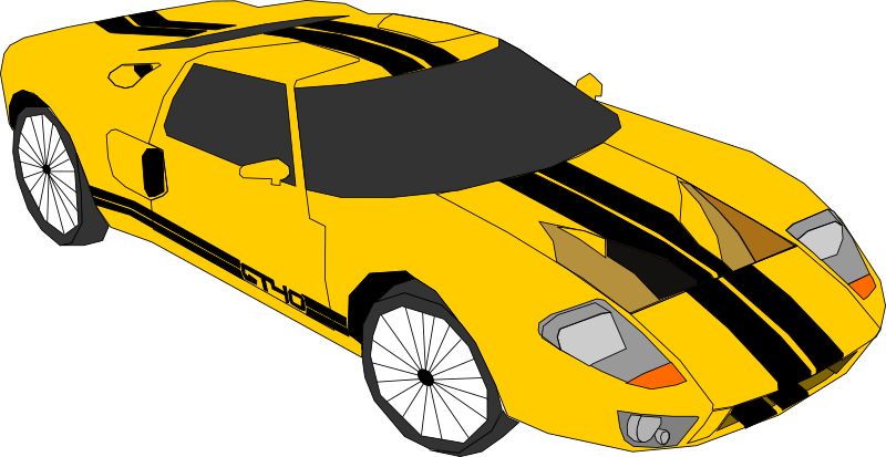 Yellow Car Clipart png free, Yellow Car transparent png