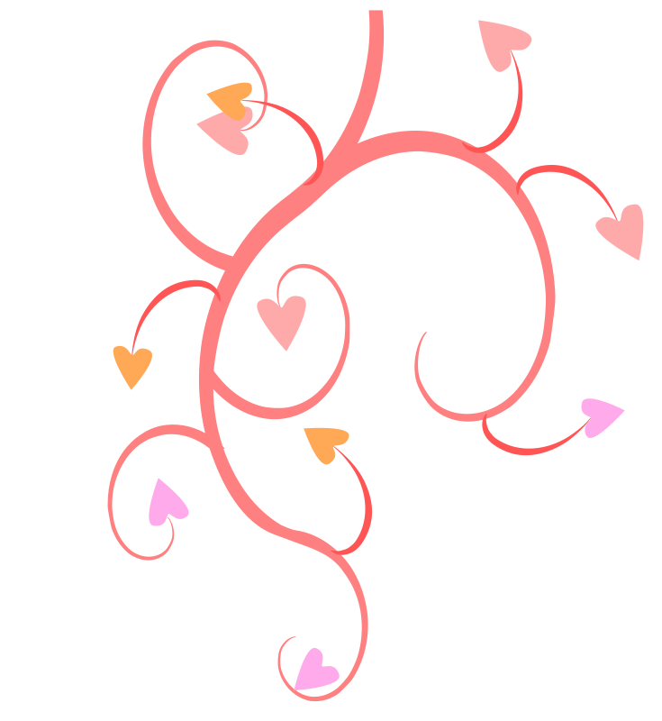 Growing Hearts Clipart png free, Growing Hearts transparent png