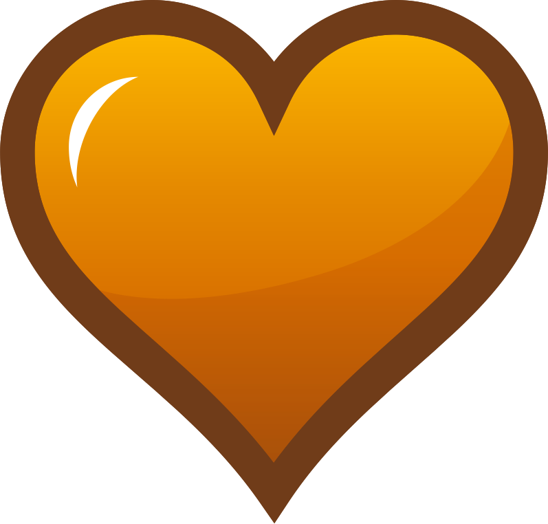 Orange Heart Icon Clipart png free, Orange Heart Icon transparent png