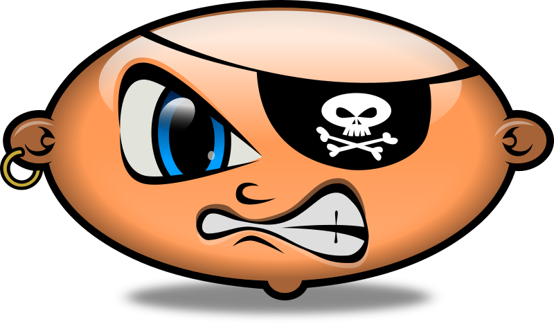 Pirate Bean Clipart png free, Pirate Bean transparent png