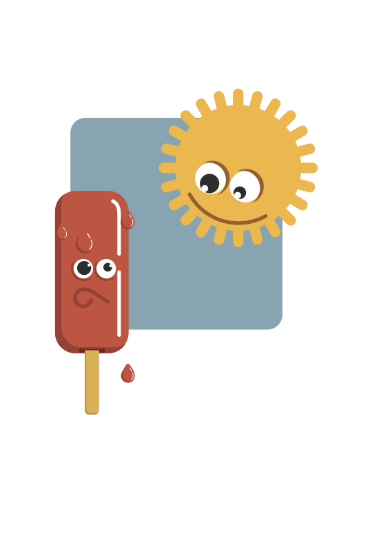 Popsicle And The Sun Clipart png free, Popsicle And The Sun transparent png