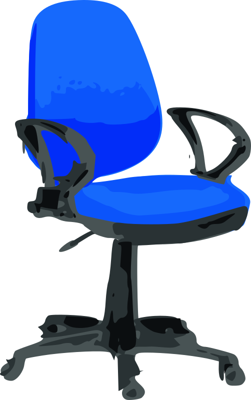 Desk Chair-Blue With Wheels Clipart png free, Desk Chair-Blue With Wheels transparent png