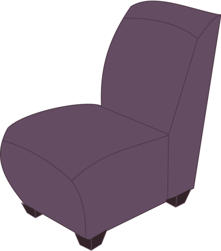 Purple Armless Chair Clipart png free, Purple Armless Chair transparent png