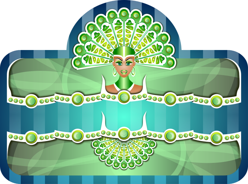 Royal Peacock Girl Border Clipart png free, Royal Peacock Girl Border transparent png