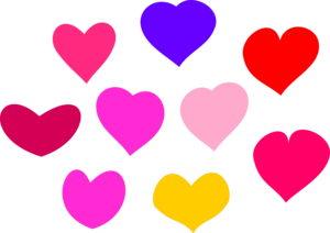 Bundle Of Hearts Clipart png free, Bundle Of Hearts transparent png