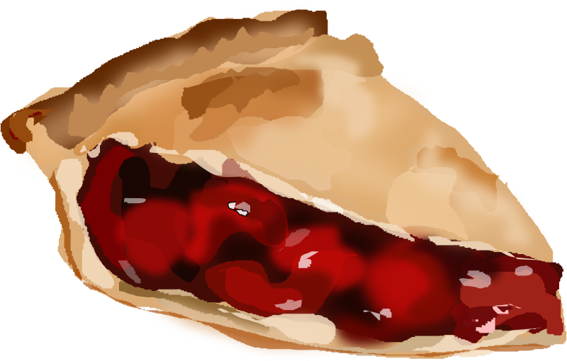 Slice Of Cherry Pie Clipart png free, Slice Of Cherry Pie transparent png