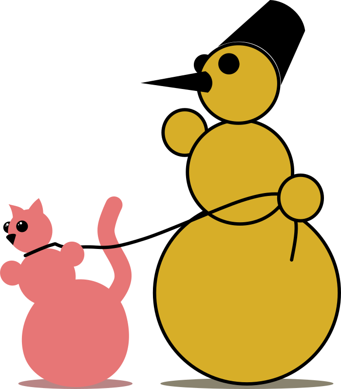 Snowman Cat Fancier By Rones Clipart png free, Snowman Cat Fancier By Rones transparent png