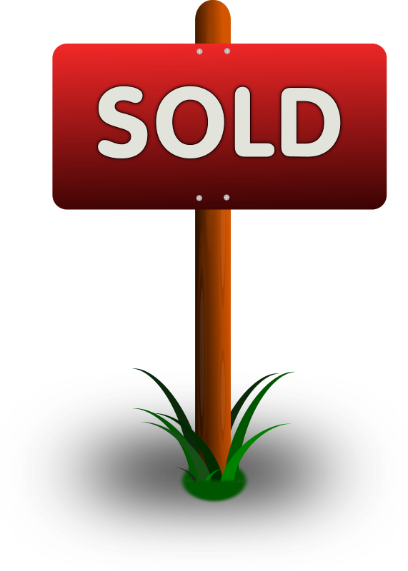 Sold Sign Clipart png free, Sold Sign transparent png