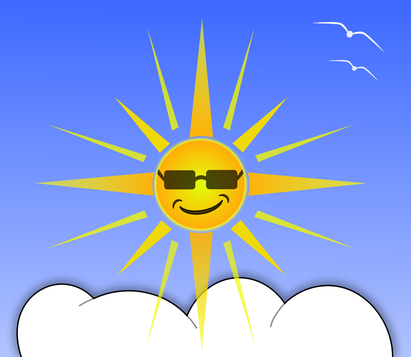Sun And Cloud Clipart png free, Sun And Cloud transparent png