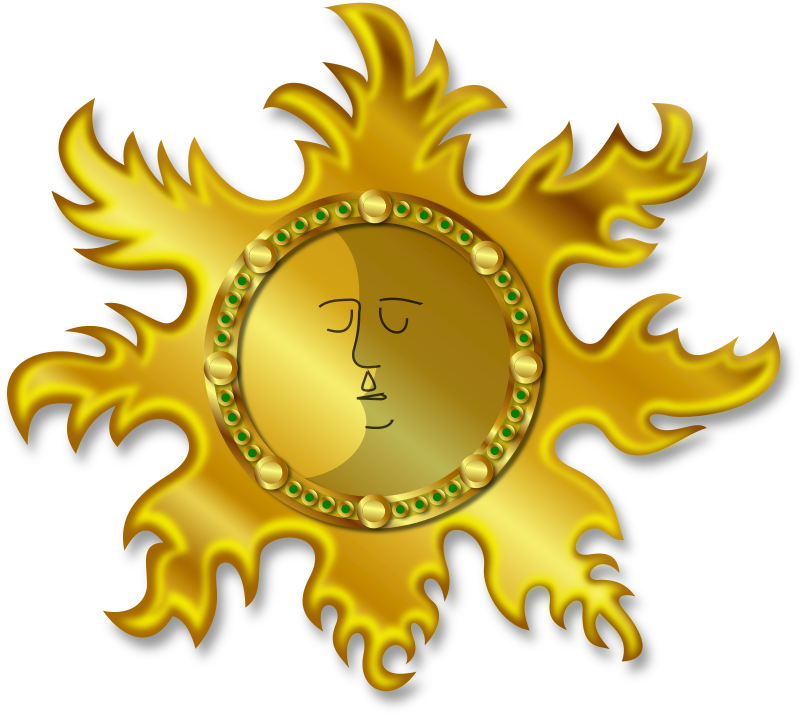 Sun And Moon Clipart png free, Sun And Moon transparent png