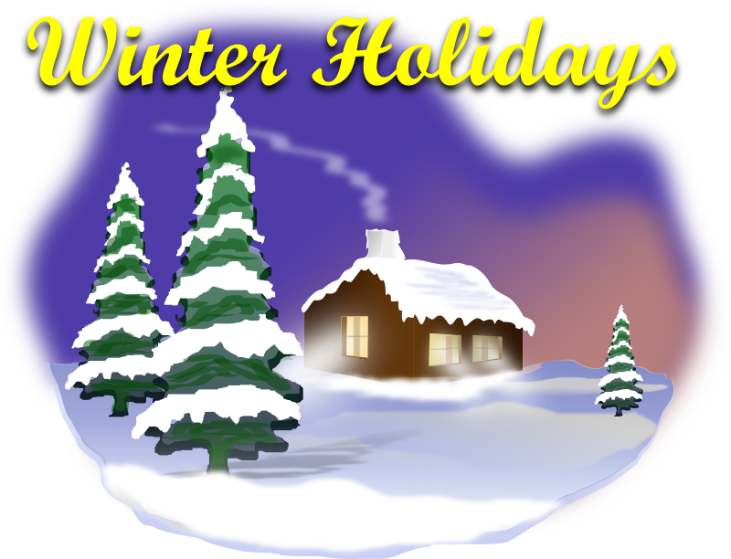 Winter Holiday Scene Clipart png free, Winter Holiday Scene transparent png