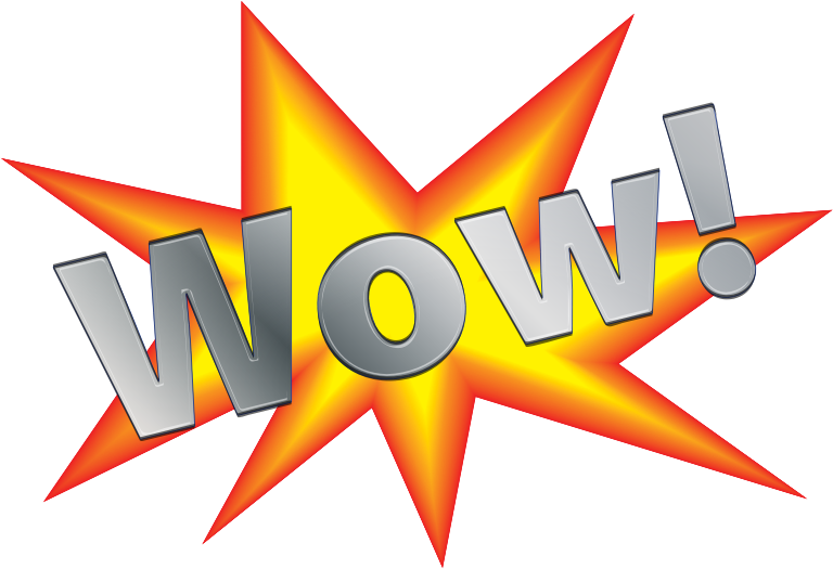 Wow! Sign Clipart png free, Wow! Sign transparent png