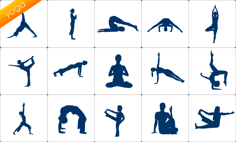 Yoga Siluete Set Clipart png free, Yoga Siluete Set transparent png
