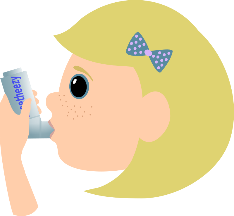 Girl With Asthma Spray Clipart png free, Girl With Asthma Spray transparent png