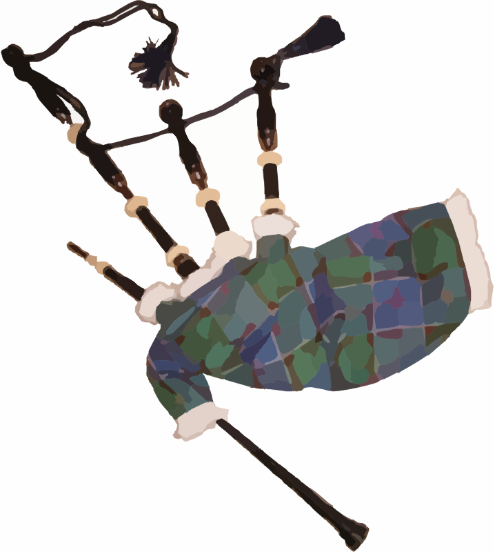 Great Highlands Bagpipes Clipart png free, Great Highlands Bagpipes transparent png