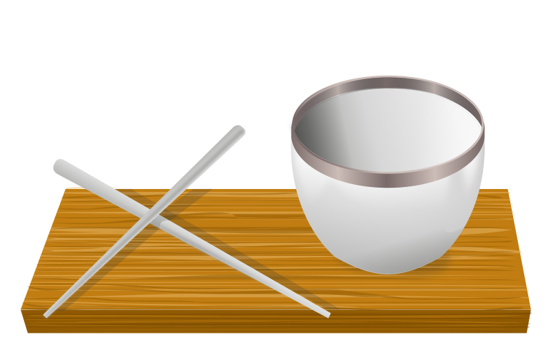 Rice Bowl With Chopsticks Clipart png free, Rice Bowl With Chopsticks transparent png