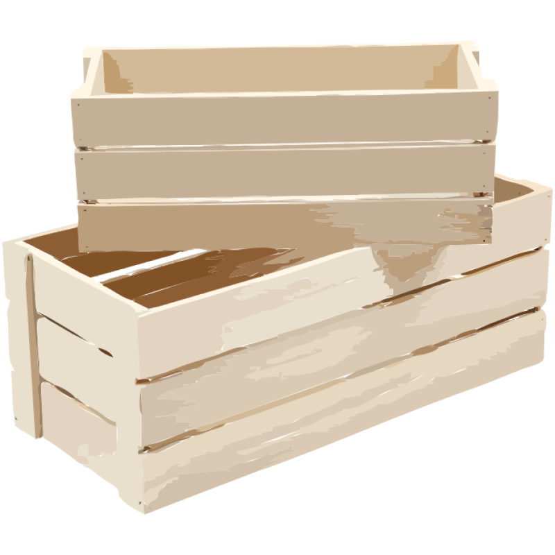 Wooden Box Clipart png free, Wooden Box transparent png