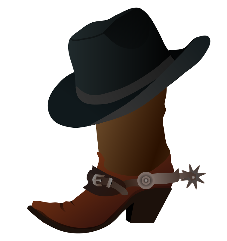 Cowboy Boot And Hat Clipart png free, Cowboy Boot And Hat transparent png