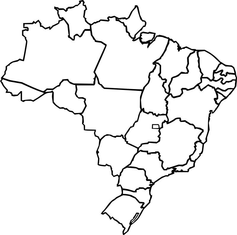 Map Of Brazil Clipart png free, Map Of Brazil transparent png