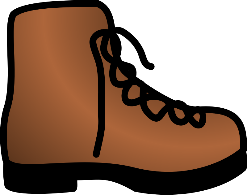 Simple Brown Boot Clipart png free, Simple Brown Boot transparent png